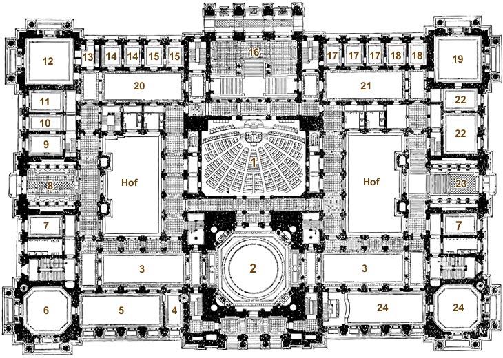 Reichstag Grundriss (Hauptgeschoss)
