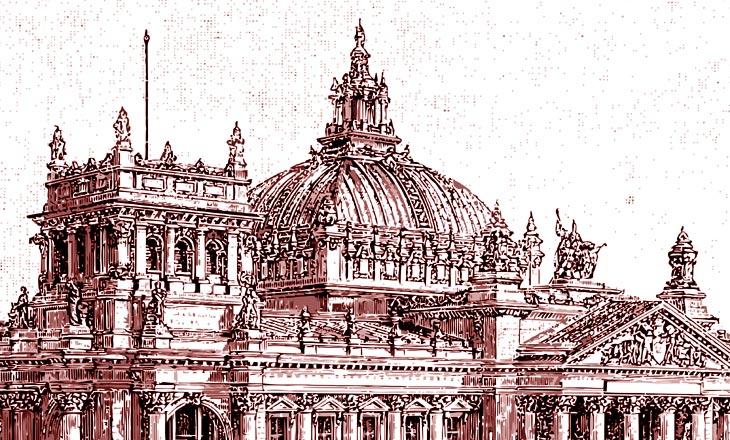 Ursprüngliche Kuppel des Reichstags