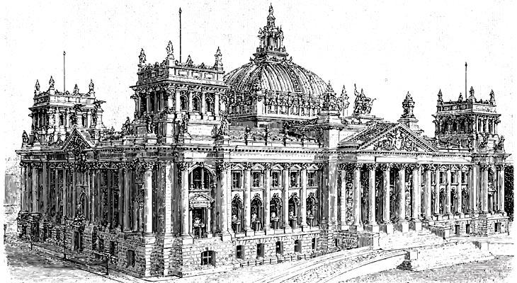 Reichstag Berlin (Zeichnung)